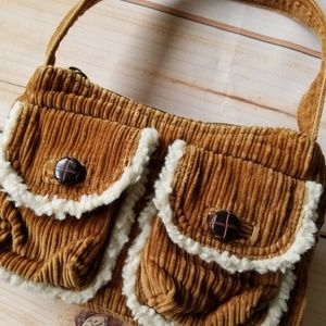 American Eagle Outfitters Corduroy Sherpa Bag
